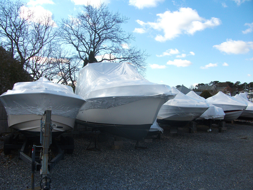Services at Ponquoge Power include shrink wrapping for the winter months.